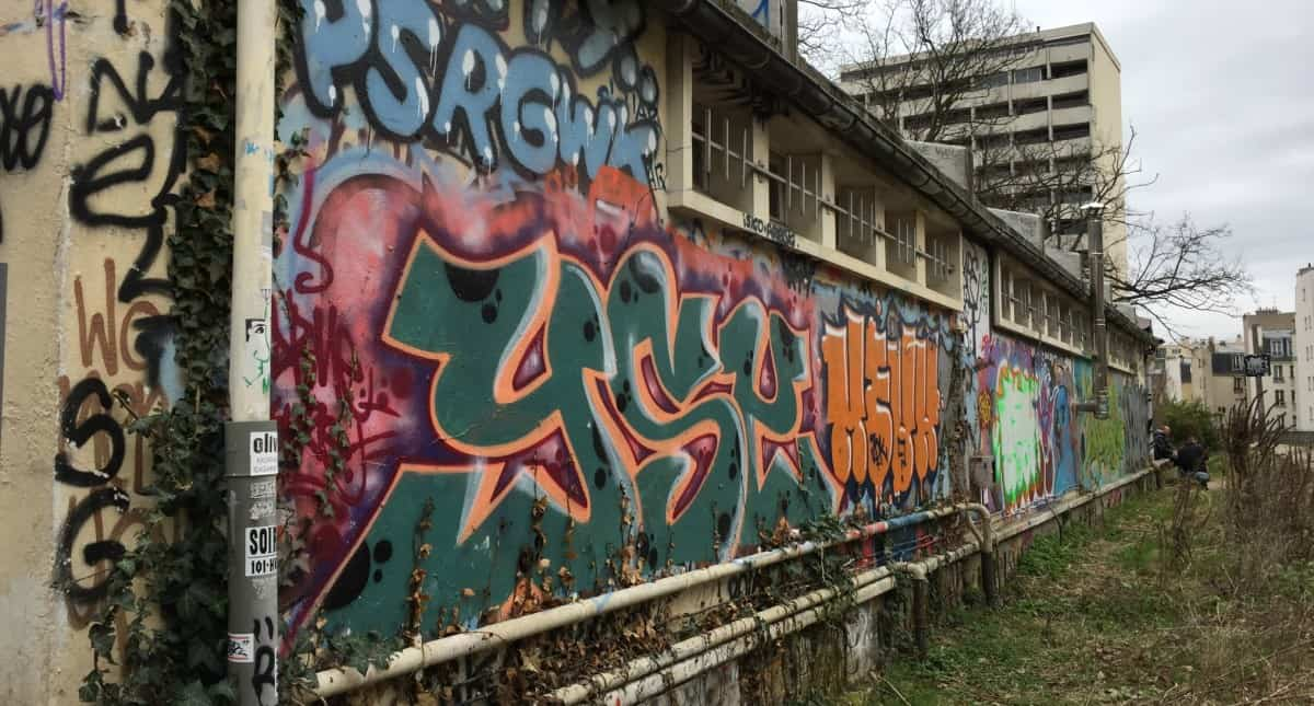 Graffiti and street art all along the Petite Ceinture - it's really a unusual thing to see in Paris and great for everyone interested in urban art and secret places in Paris