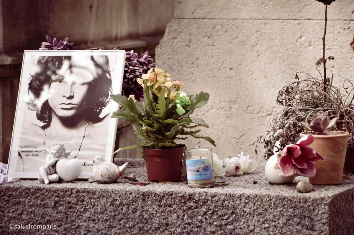 Grab von Jim Morrison in Paris, Friedhof Père Lachaise in Paris besuchen