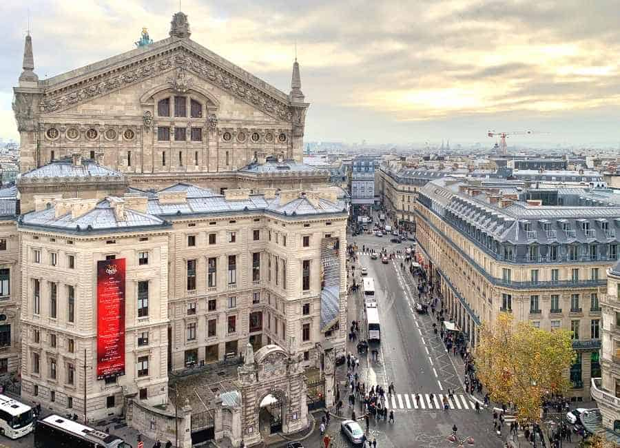 The Opéra of Paris seen from the roof top of the Galerie Lafayette
