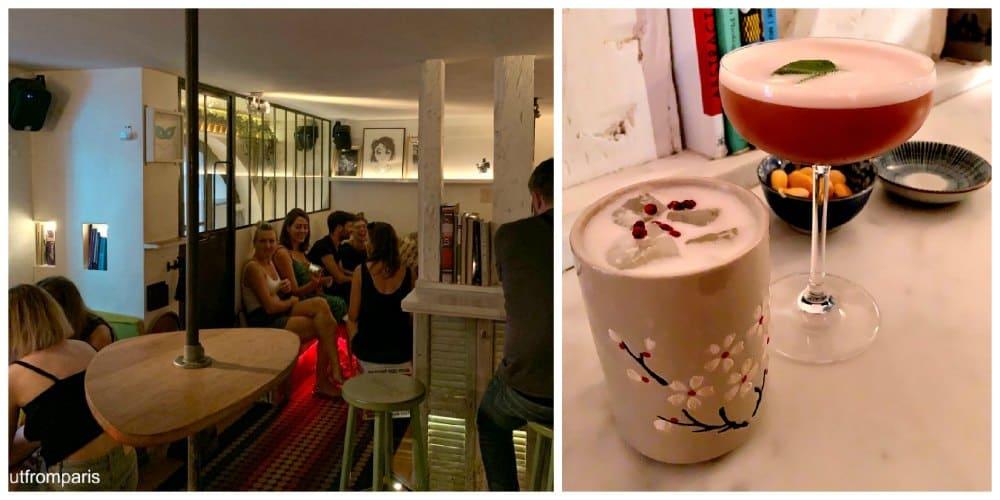 a very original bar in Paris - an apartment style cocktailbar in Paris