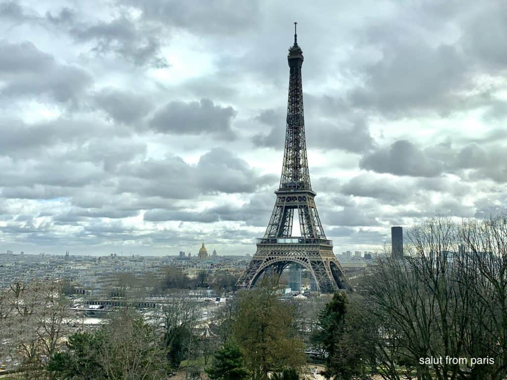Best view on the Eiffel Tower from the Musée de l'Homme