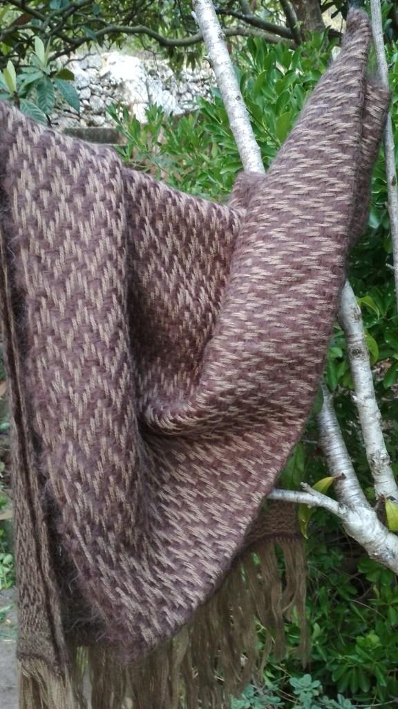 Chal de lana y mohair