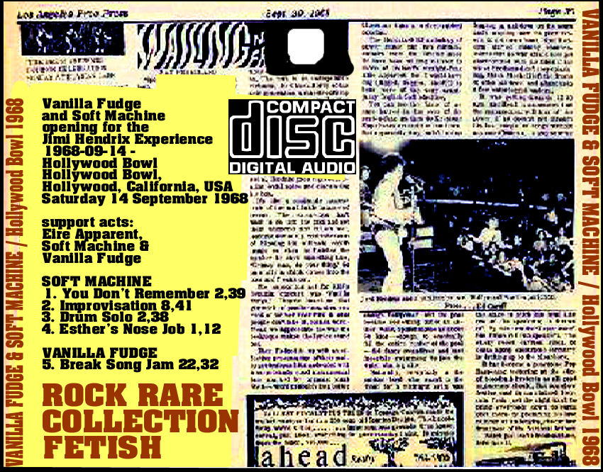 Soft Machine last concert Kevin Ayers USA Hollywood Bowl 1968 Jimi Hendrix