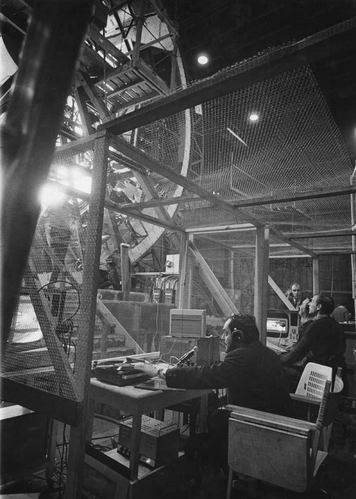 Stanley Kubrick durante le riprese di 2001 Odissea nello Spazio