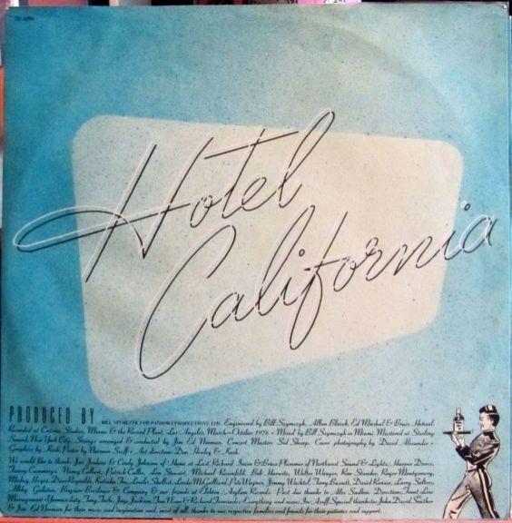 Eagles Hotel California Inner