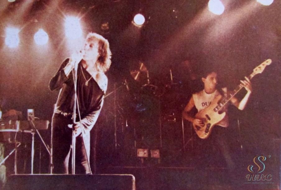 Vasco Rossi in concerto negli anni 80