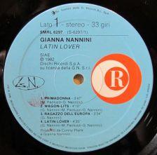 Gianna Nannini, LP, etichetta, label