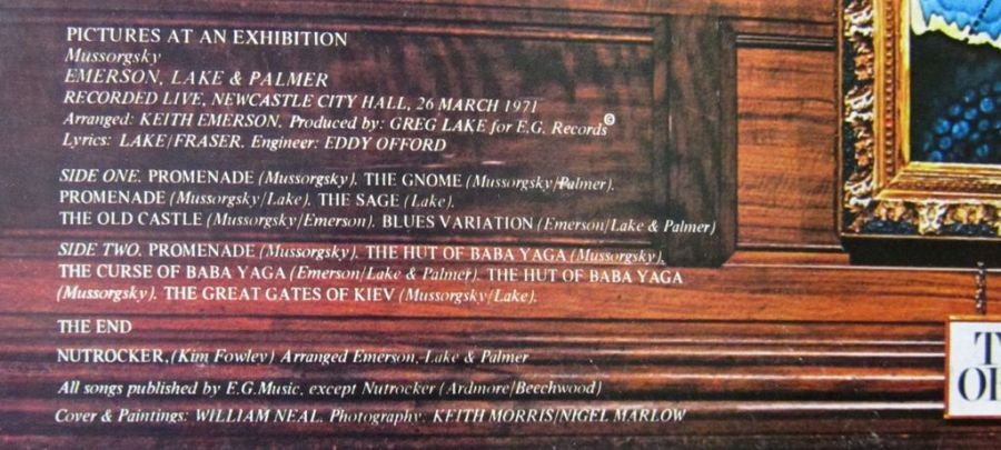 Exhibition Keith Emerson vinyl 1971