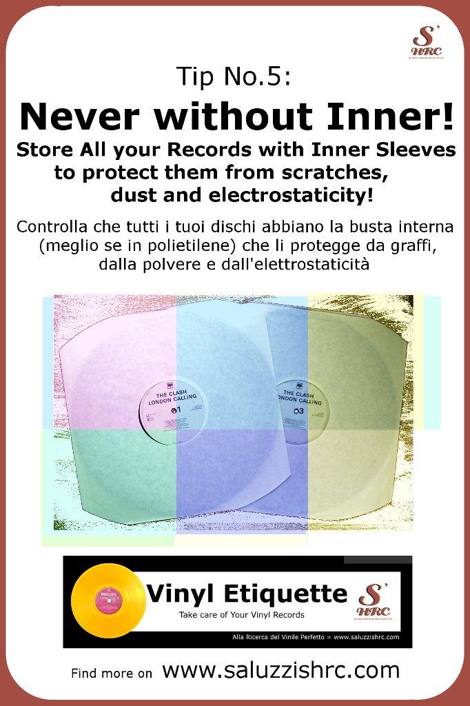 Vinyl Etiquette Manutenzione Vinile Inner Sleeve