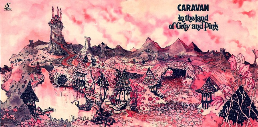 caravan in the land of grey and pink Fronte completo