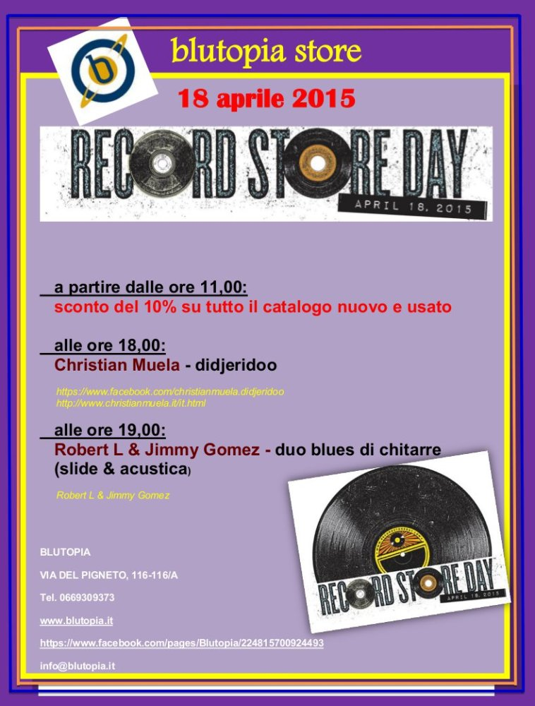 Record Store Day 2015: Eventi a ROMA (5/6)