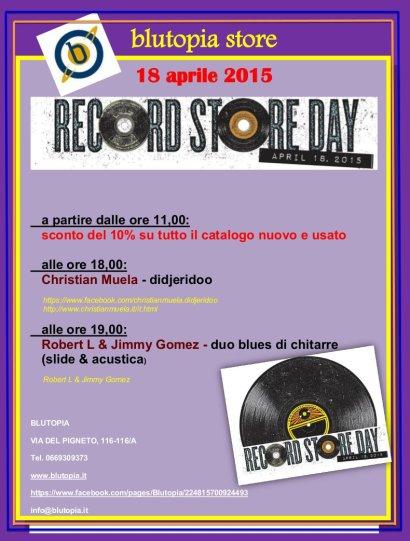 Blutopia RSD2 eventi Roma