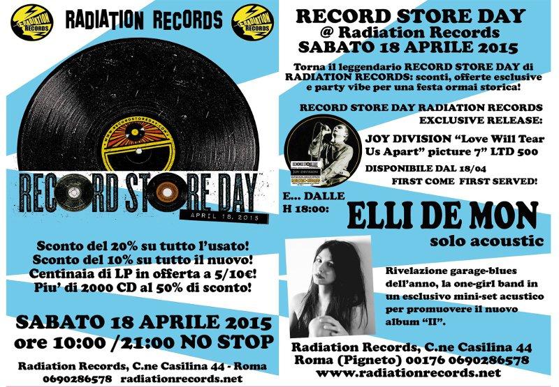 Record Store Day 2015: Eventi a ROMA (2/6)