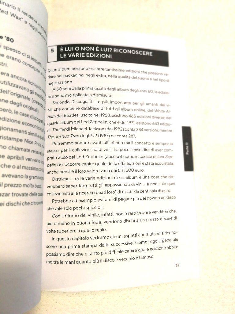 Vinile Istruzioni per l'uso pagina interna