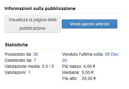 prezzi dischi discogs