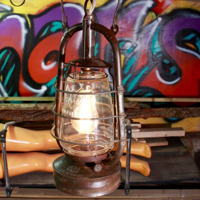 WW2-Vintage-oil-lamp-converted-into-electric-pendant-lamp