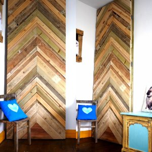 Custom built wardrobe in your alcove using reclaimed wood.