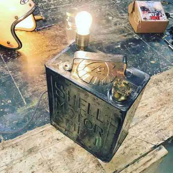 Beautiful antique jerry can lamp