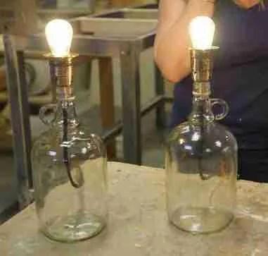 Bottle lamps