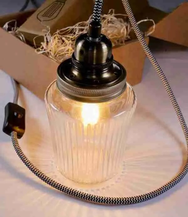 Jam jar lamp kit