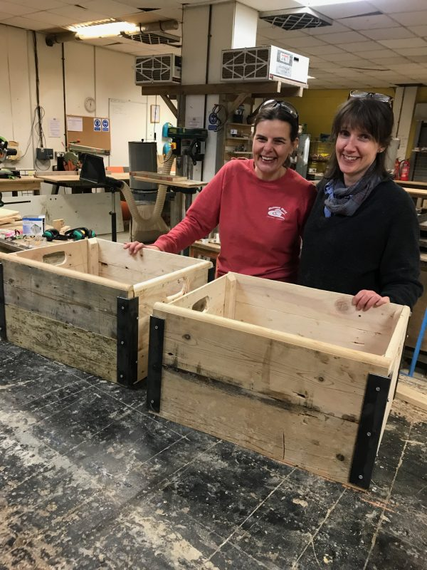 We made these boxes from scratch with the Salvage Sister in brighton