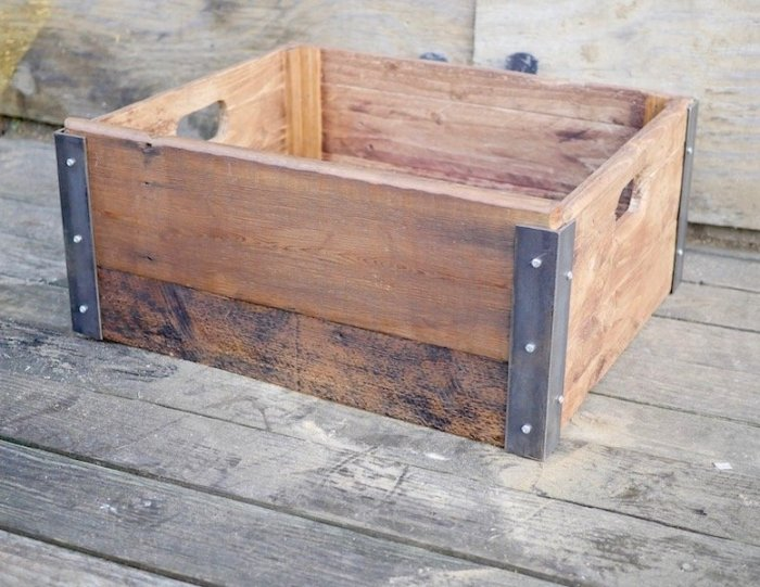 make a wooden crate box from scratch