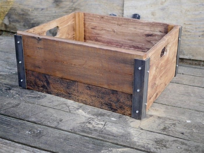 Industrial style crate