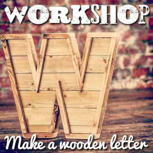Make a wooden letter woodwork class