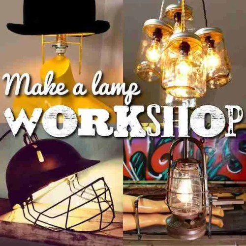 Learn how to make a lamp workshop class in Brighton