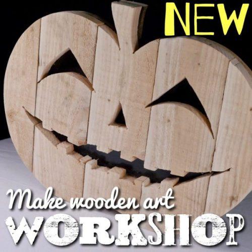 Learn how to make wooden pumpkin art workshop class