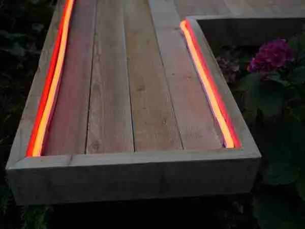 Massive hand made light up pallet letters