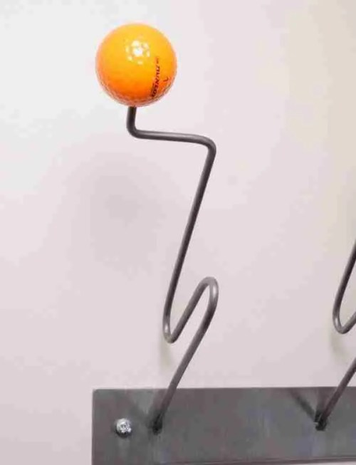 orange ball coat hooks
