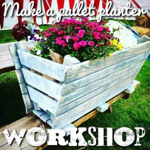 Make a pallet planter workshop class
