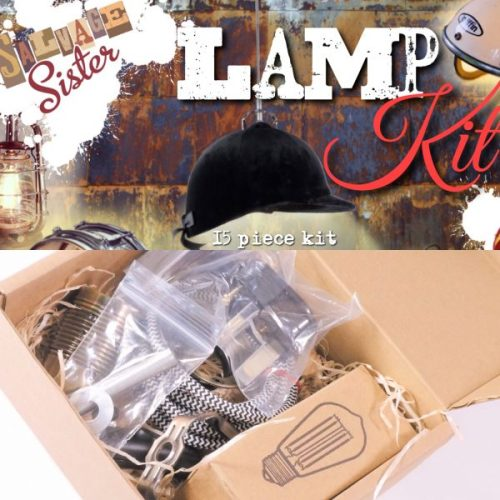 15 piece UK DIY lamp making kit