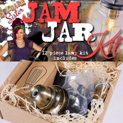 DIY jam jar lamp kit