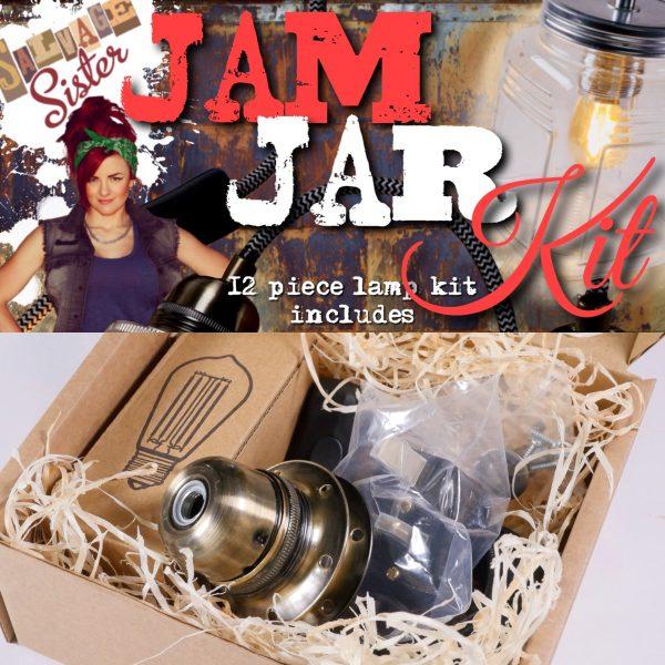 DIY jam jar lamp kit