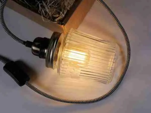 Jam jar lamp making tutorial