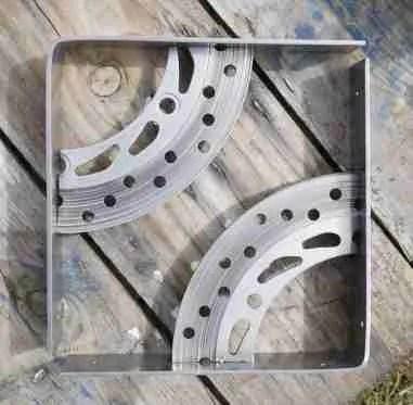 salvaged Brake disk shelf brackets