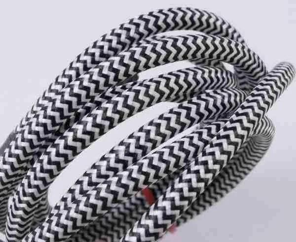black & white fabric flex