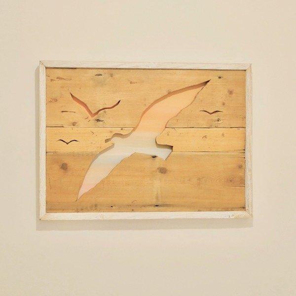 Framed wooden artwork