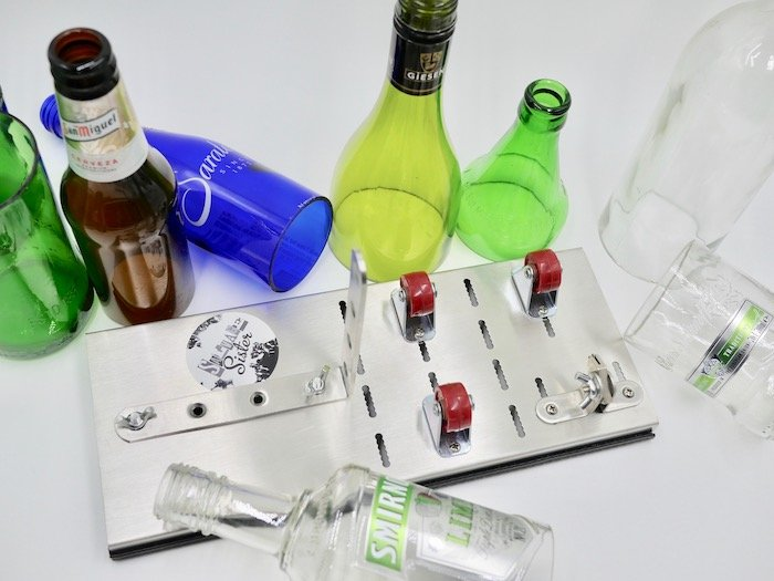 how to cut glass bottles easily