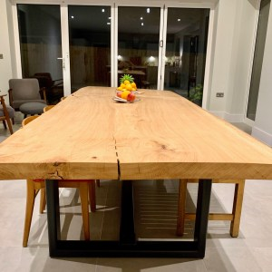 Massive Oak slab dining table