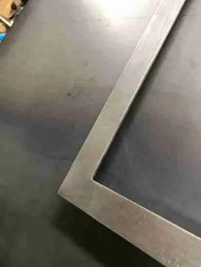 Bright steel framework fabricated for barn door style sliding doors