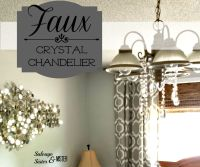 Faux Crystal Chandelier - Salvage Sister and Mister