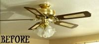 Brass Ceiling Fan Makeover