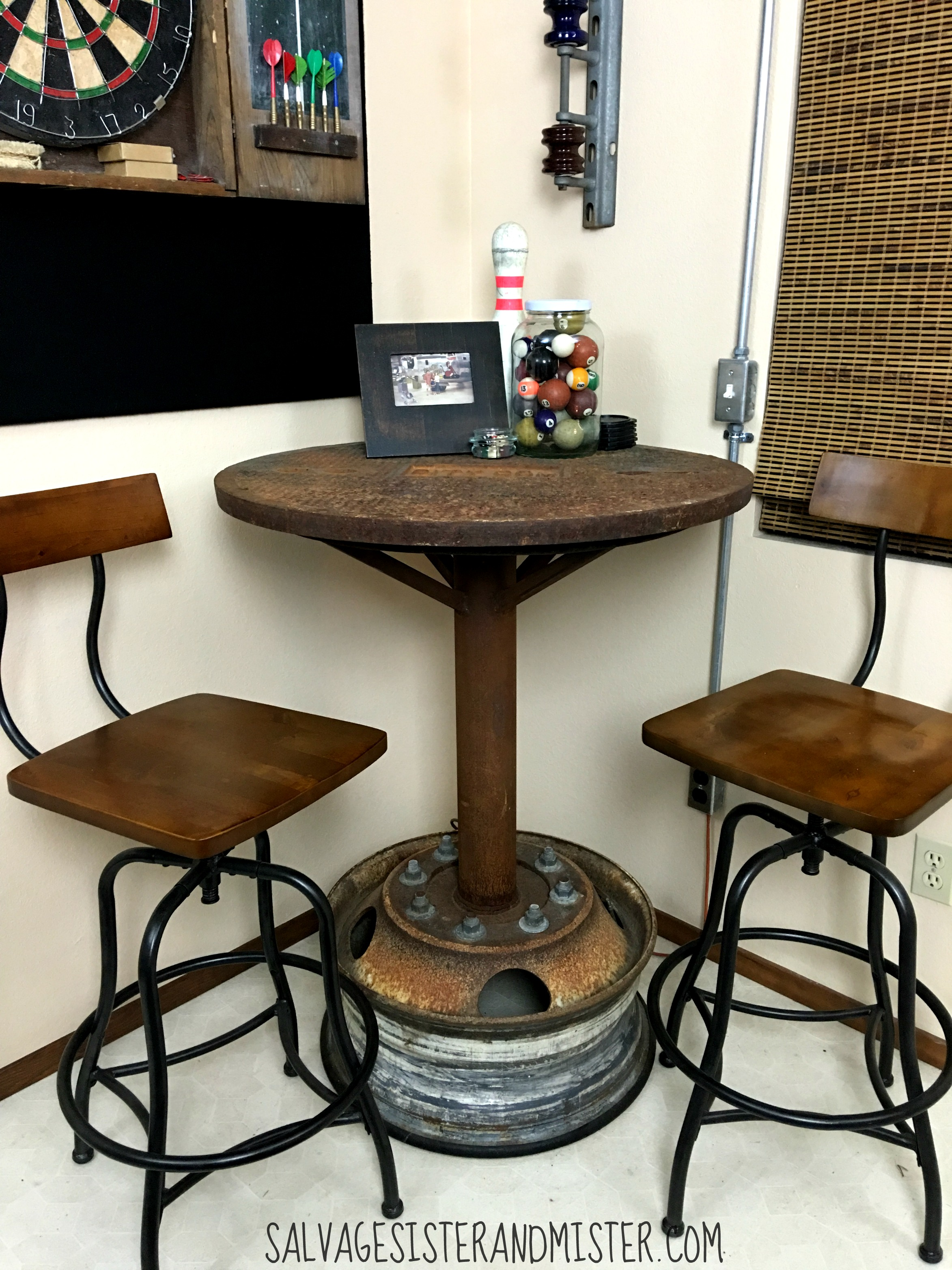Industrial Bar Table Game Room ORC  Salvage Sister and