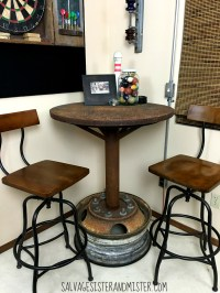 Industrial Bar Table -Game Room ORC - Salvage Sister and ...