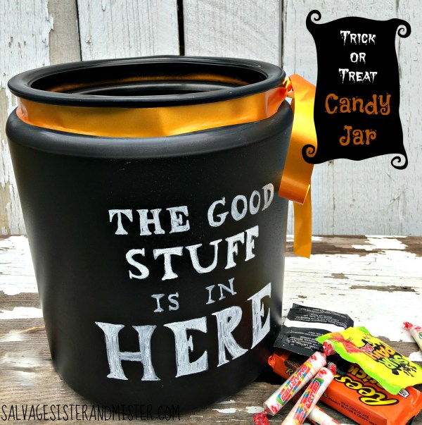 Trick Treat Candy Jar - Salvage Sister And Mister