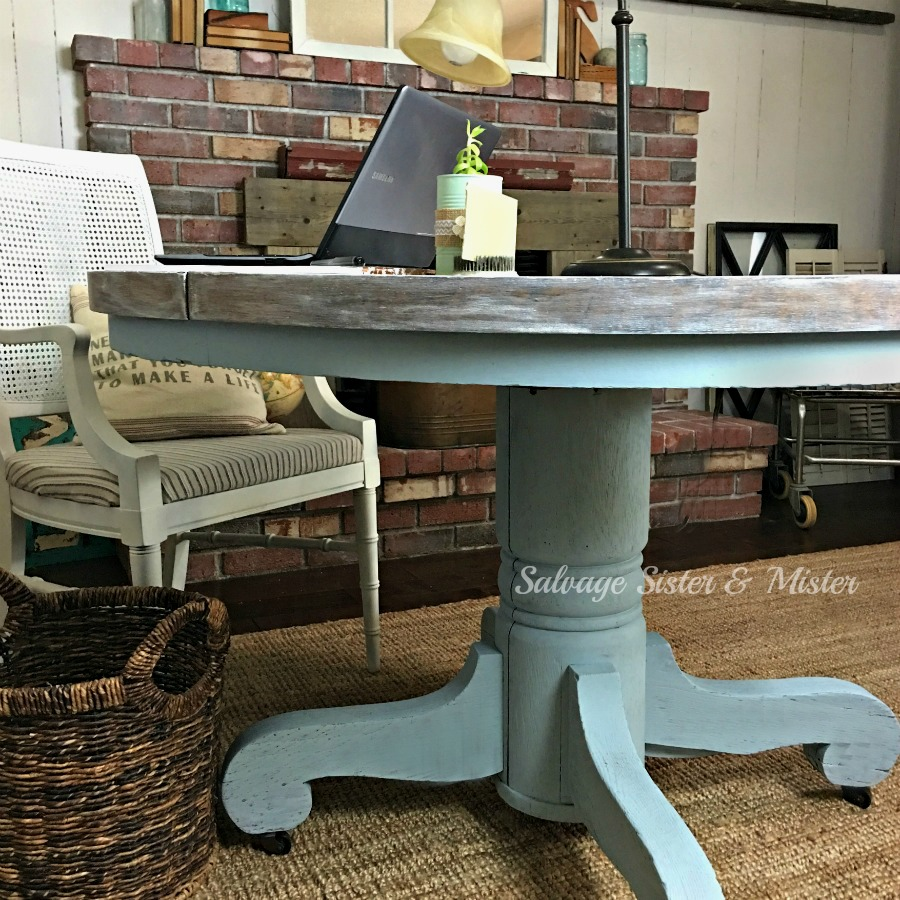 A Round Table DESK  Salvage Sister and Mister