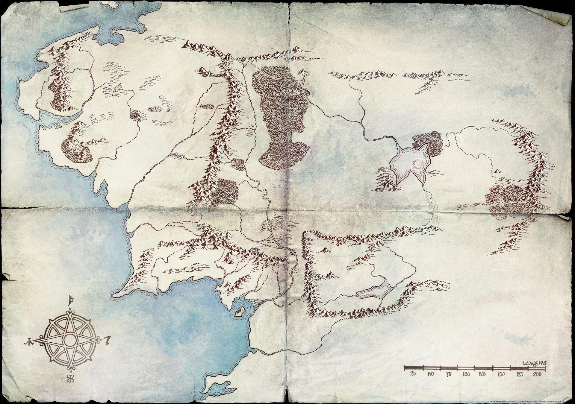 Senhor dos Anéis Mapa Terra Média